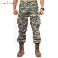 Outdoor Military Casual Trousers 2015 New Fashion Camouflage Military Army Training Cargo Pants Pocket Decorated Tactical