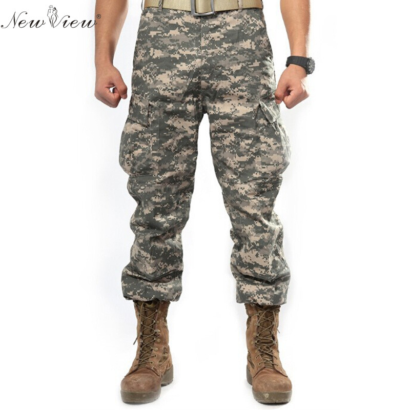 2017 Brand Men Clothing Camouflage Cargo Trouser Male Casual Man Pantalon Homme Solid Military Army Men