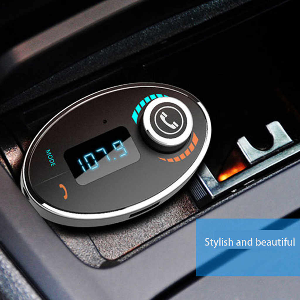 2019 NEW Hot Sale For Bluetooth Car FM Receive Wireless Radio Adapter USB Charger Mp3 Player Car Electronics Dropshipping Qi C