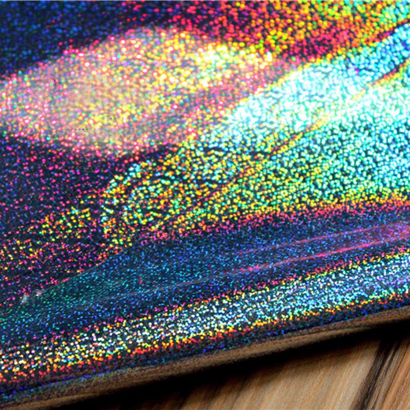 Nieuwe Symfonie Laser Sterren Kleurrijke fluorescerende Kleding Tas Waterdichte pvc Lederen Designer Stof