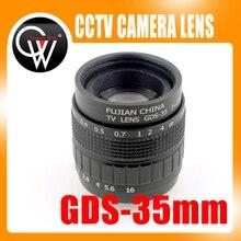Obiettivo CCTV professionale 35mm f/1.7 C Mount CCTV Lens presenta custodia in lega con obiettivo di qualità