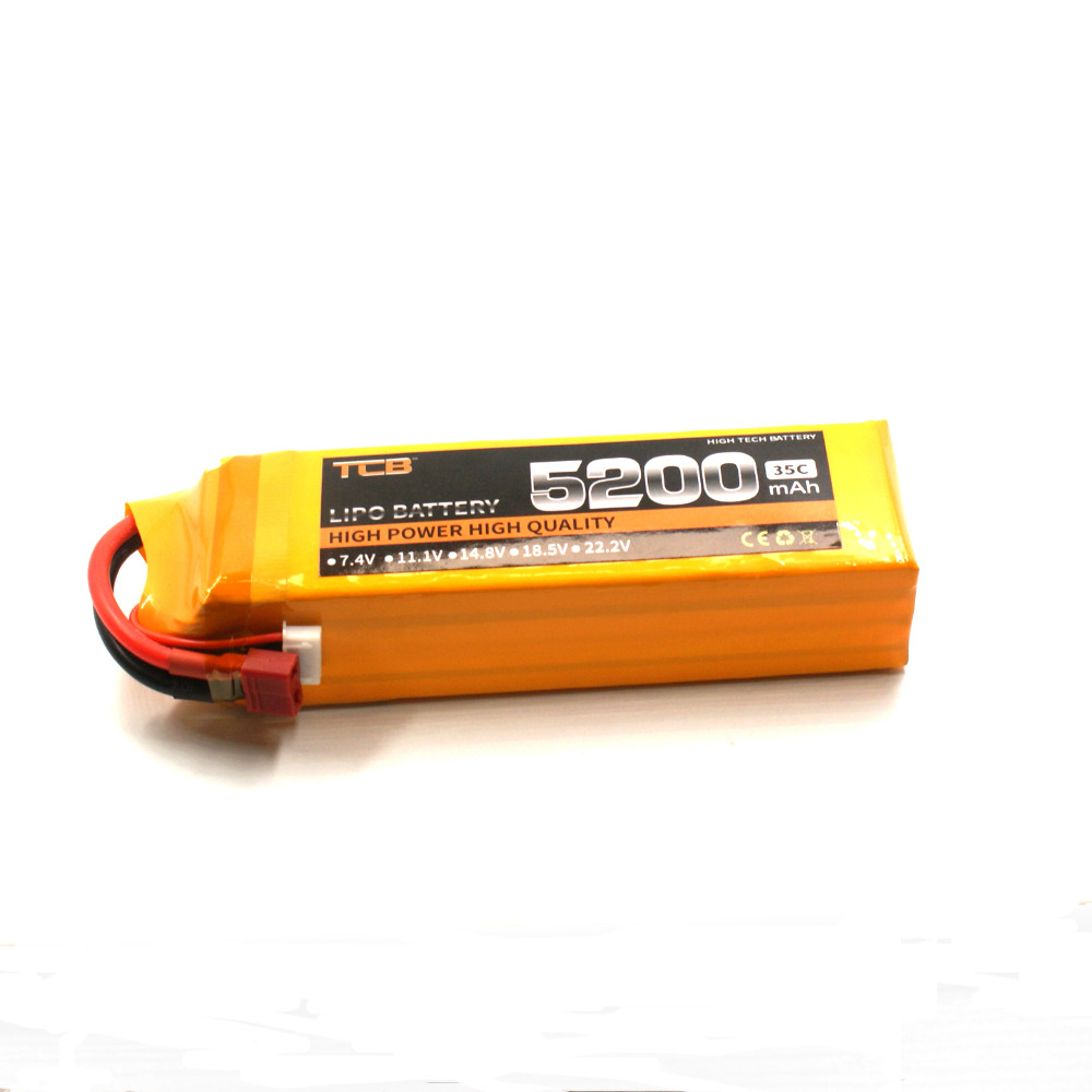 TCB RC Airplane lipo battery 14 8v 5200mAh 35C 4s rechargeable batteia for font b Drone