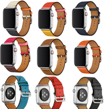 YIFALIAN Series 2/1 Genuine Leather watchBand Single Tour Bracelet Leather Band strap For Apple Watch 38mm 42mm