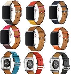 Pulseira para iwatch Série cinto 4/3/2/1 Genuíno faixa de Relógio pulseira de Couro Para A Apple Único tour 38mm 42mm 40mm 44mm
