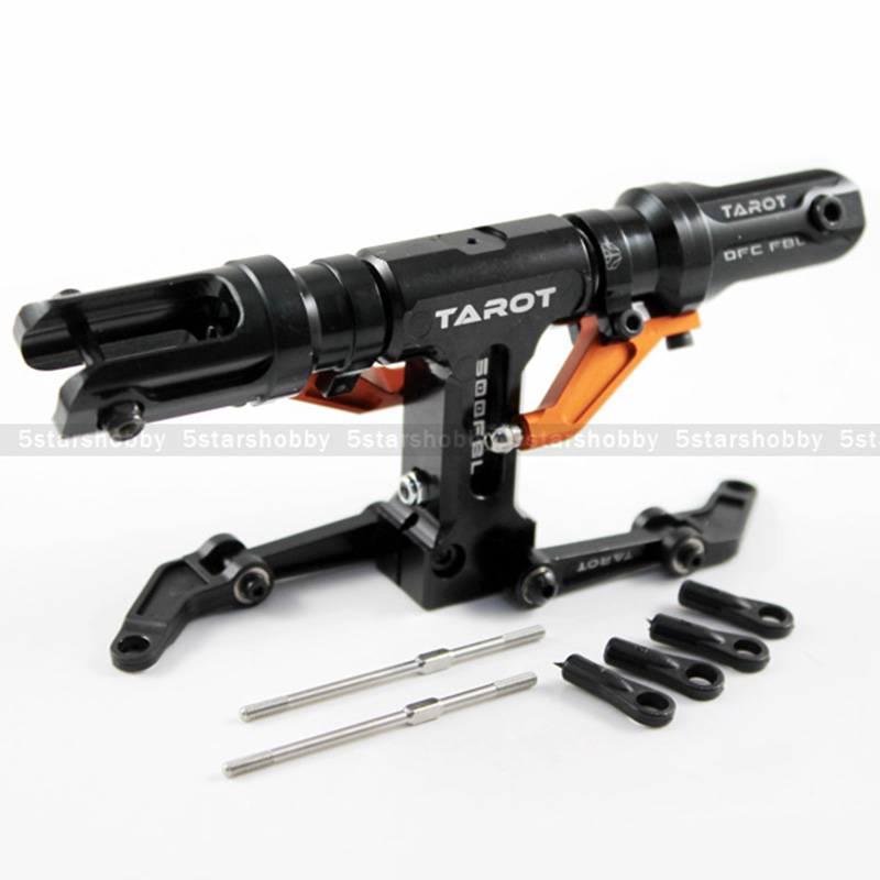 Tarot 500 Flybarless Main Rotor Head For Trex 500 Helicopter Black & Orange Color