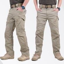 IX9 город тактические брюки карго мужские военные спецназ армии военные брюки хлопок много карманов стрейч гибкие мужские повседневные брюки 5XL