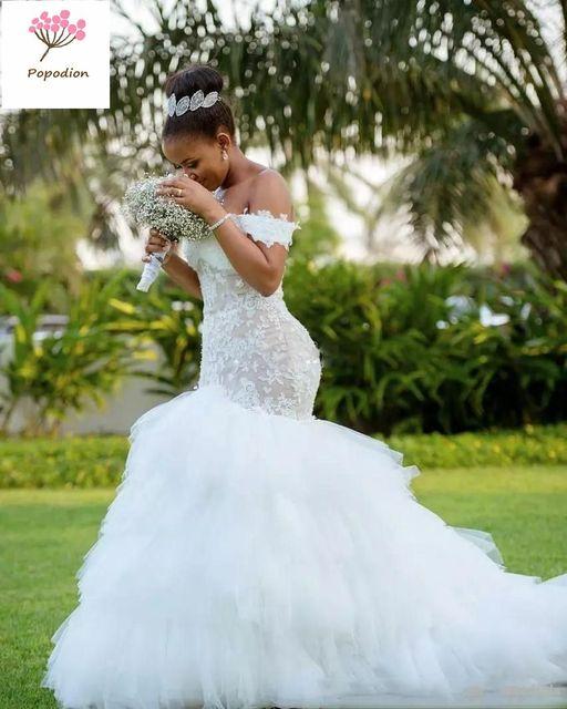 Popodion Wedding Dress Lace Wedding Dresses Mermaid Bridal Dresses . 9a5ee979e89b