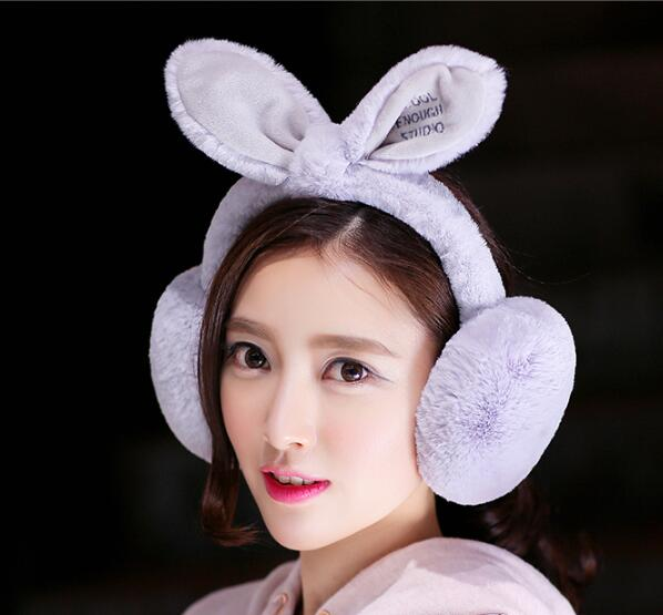 2017 New Fashion Cute Headphones Rabbit Earmuffs Winter Warm Headphones 6 Style