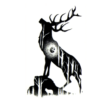 God Of The Forest Deer Waterproof Temporary Tattoos Sticker Body Art Tattoo Beauty Makeup Tattoo Sleeves Temporaryt Tatoo image