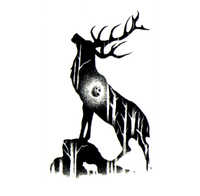 God Of The Forest-tatuajes temporales calcomanías impermeables, arte corporal, tatuaje belleza, tatuaje, mangas