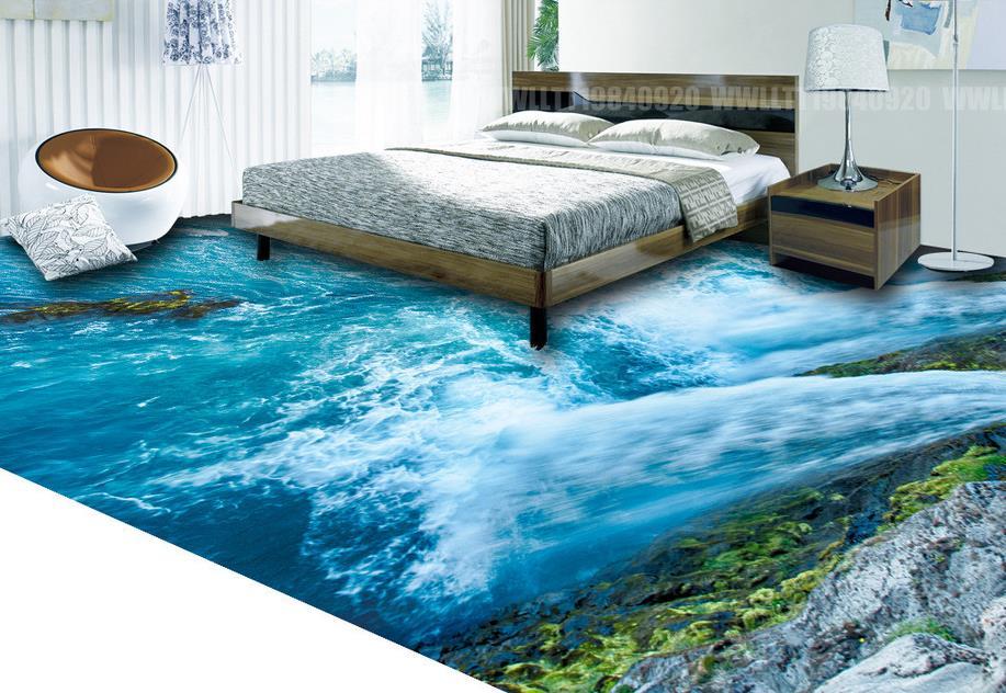 Custom 3d Wallpaper Bedroom Mural Roll 3d Flooring Self Adhesive Wallpaper  Ocean World 3d Floor Tiles Waterproof Wallpaper In Wallpapers From Home ...