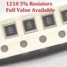 100PCS/lot SMD Chip Resistor 1210 36K/39K/43K/47K/51K/Ohm 5% Resistance 36/39/43/47/51/K Resistors Free Shipping