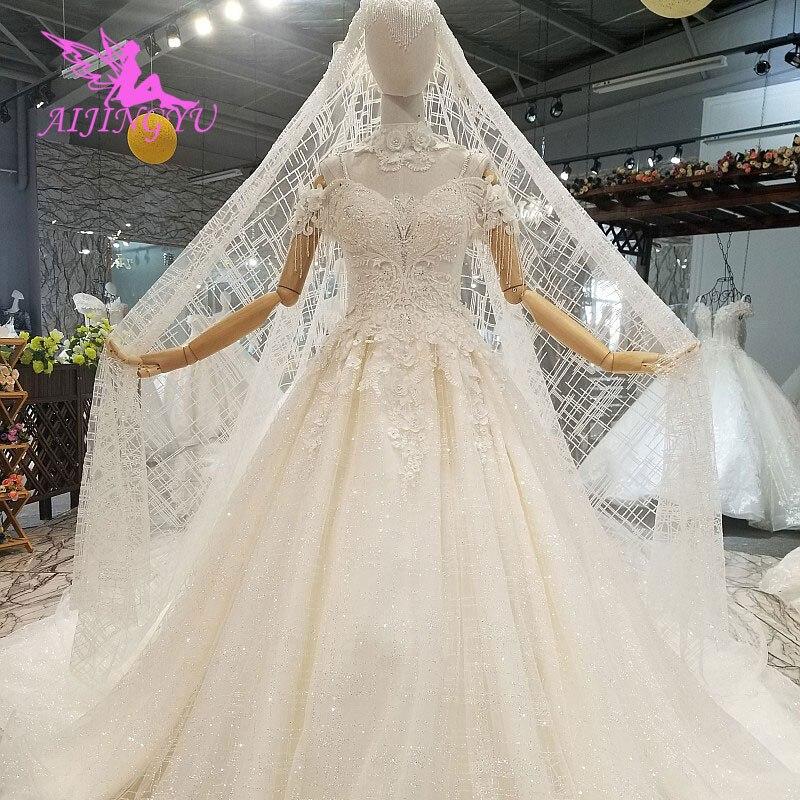 Image 3 - AIJINGYU Lavender Wedding Dress Indian Sexy Plus Size Luxury Ball Korean White Bridal Wedding GownsWedding Dresses   -