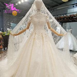 Image 3 - AIJINGYU ラベンダーウェディングドレスインドセクシーなプラスサイズの高級ボール韓国ホワイトブライダルウェディングドレス