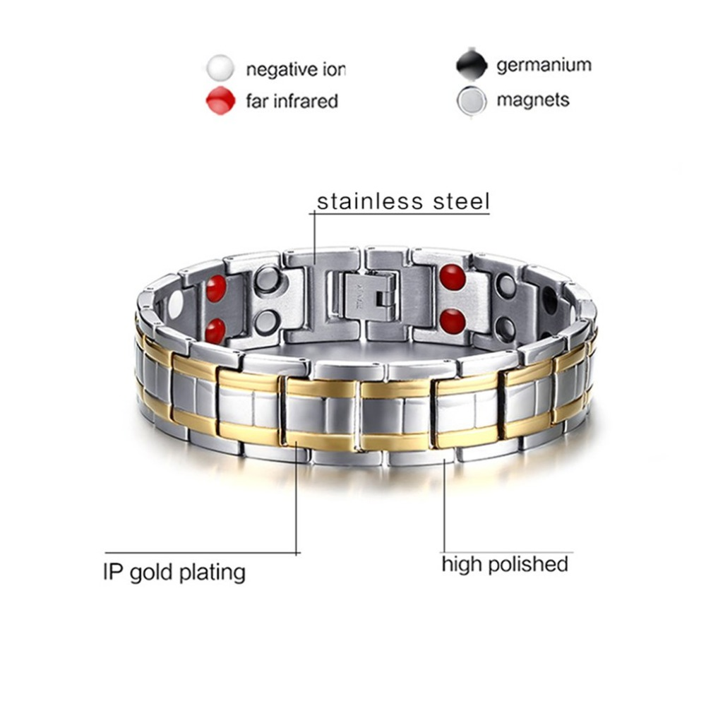 Popular Magnetic Slimming Bracelet Fashionable Jewelry For Man Woman Link Chain Weight Loss Bracelet Health Slimming Products 2