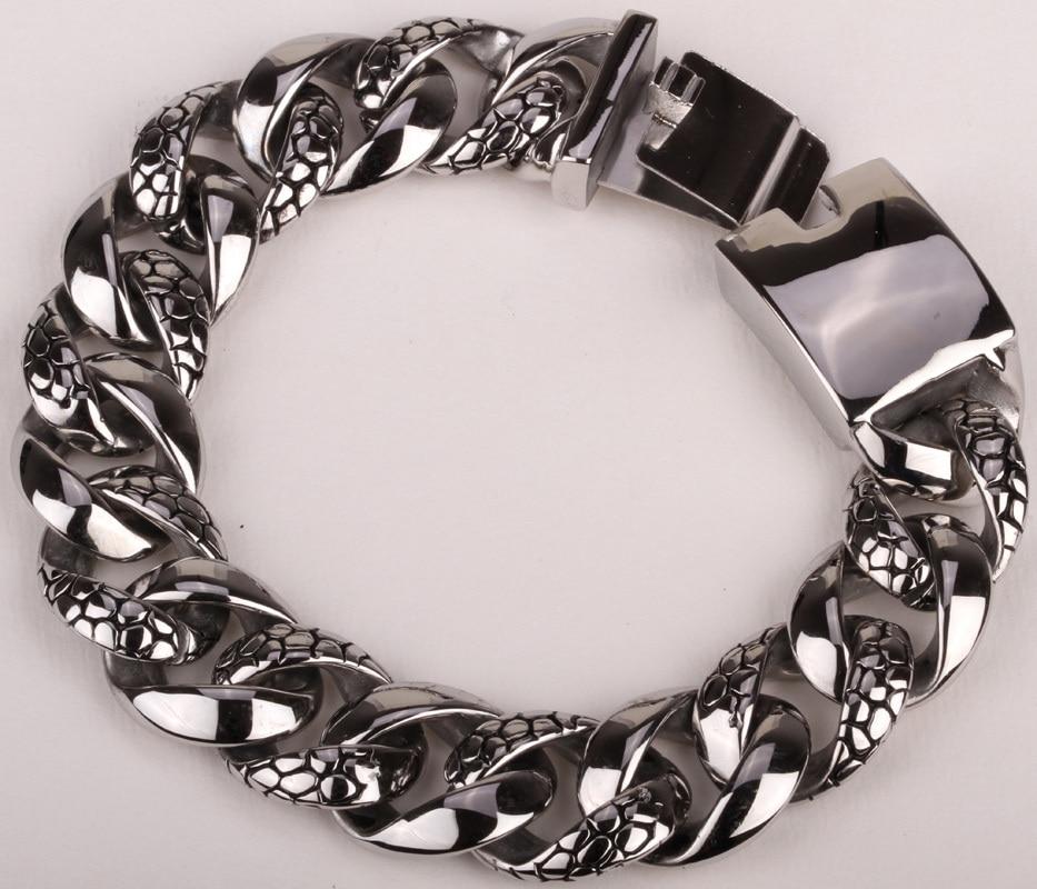 Men stainless steel bracelet 316L biker jewelry heavy chain punk jewelry wholesale 217 8 75 2cm width 98g cool men boy wolf chain 316l stainless steel bracelet