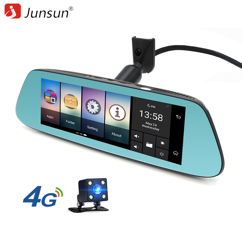 Junsun 4G Special Mirror Car DVRs Camera Android 5 1 with font b GPS b font