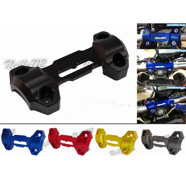 Motorcycle Handlebar Fat Bar Riser Clamp Top Cover Support For Yamaha MT-09 FZ-09 2014 2016 2016