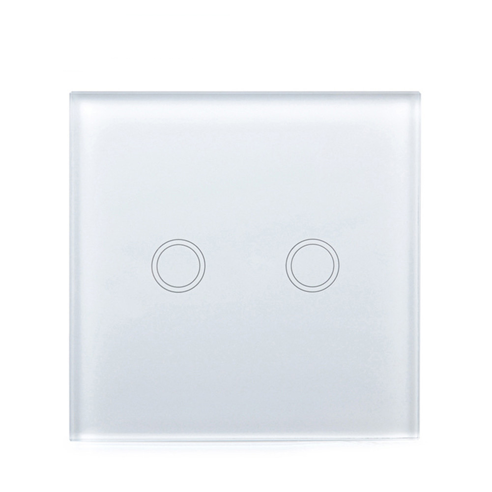 EU/UK Wall Switch Touch Switch Sensor Switch 2Gang Smart Remote Control Luxury Crystal Glass Panel Surface Waterproof Fireproof smart home us black 1 gang touch switch screen wireless remote control wall light touch switch control with crystal glass panel