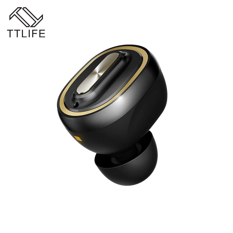 TTLIFE N1 Mini Ipx7 Waterproof Bluetooth Earphone Wireless V4.1 Super Bass Noise Cancelling Headphone with 400mAh Charging Box ttlife portable mini wireless bluetooth earphone v4 1 stereo noise cancelling headset with car charger 2 in 1 for iphone 7