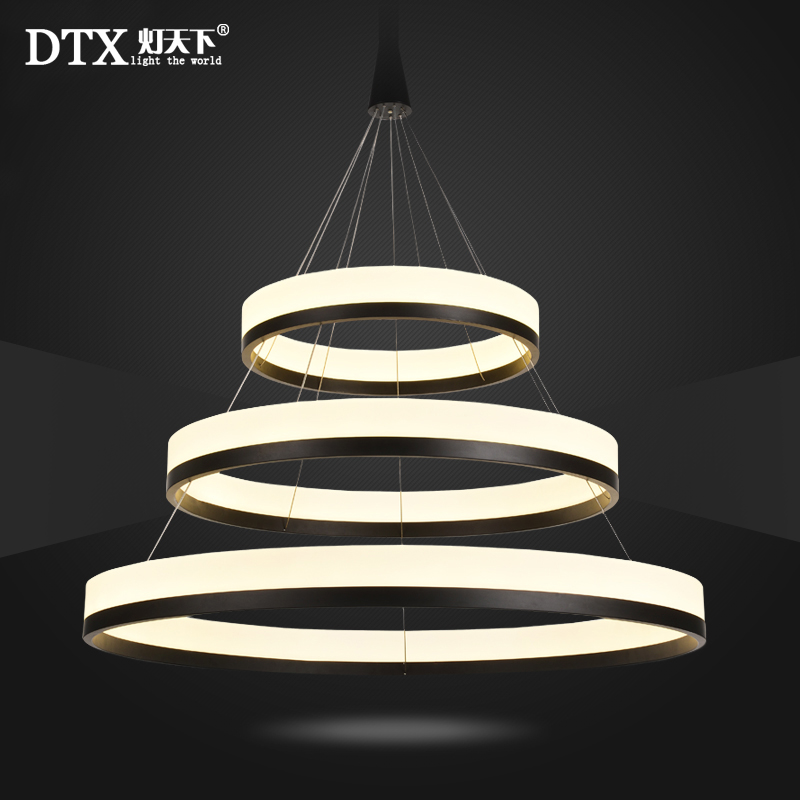 A1 Pendant Lights living room circular atmosphere modern creative bedroom personality LED lamps NEW restaurant office Cafe creative personality restaurant pendant lights led modern minimalist ring study lamp master bedroom living room office lightscl