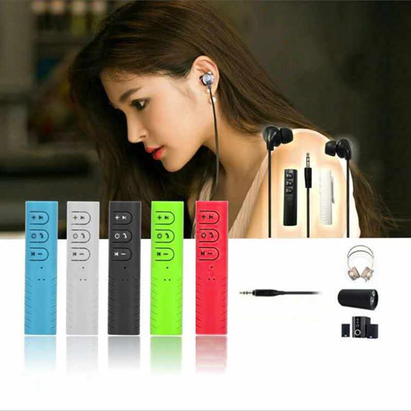 Kit mains libres 3.5mm jack Bluetooth Aux Audio adaptateur récepteur mains libres voiture récepteur de musique avec microphone micro sans fil