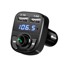 2017 Bluetooth Car Kit Handsfree Set FM Transmitter MP3 Music Player 5V 4 1A Dual USB