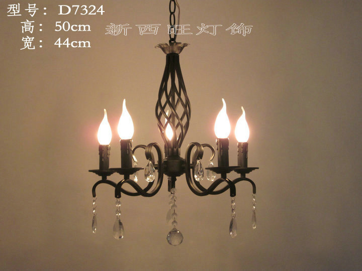 5 heads Wrought Iron Crystal pendant Chandelier E14 base Lamp for home decoration Lighting5 heads Wrought Iron Crystal pendant Chandelier E14 base Lamp for home decoration Lighting