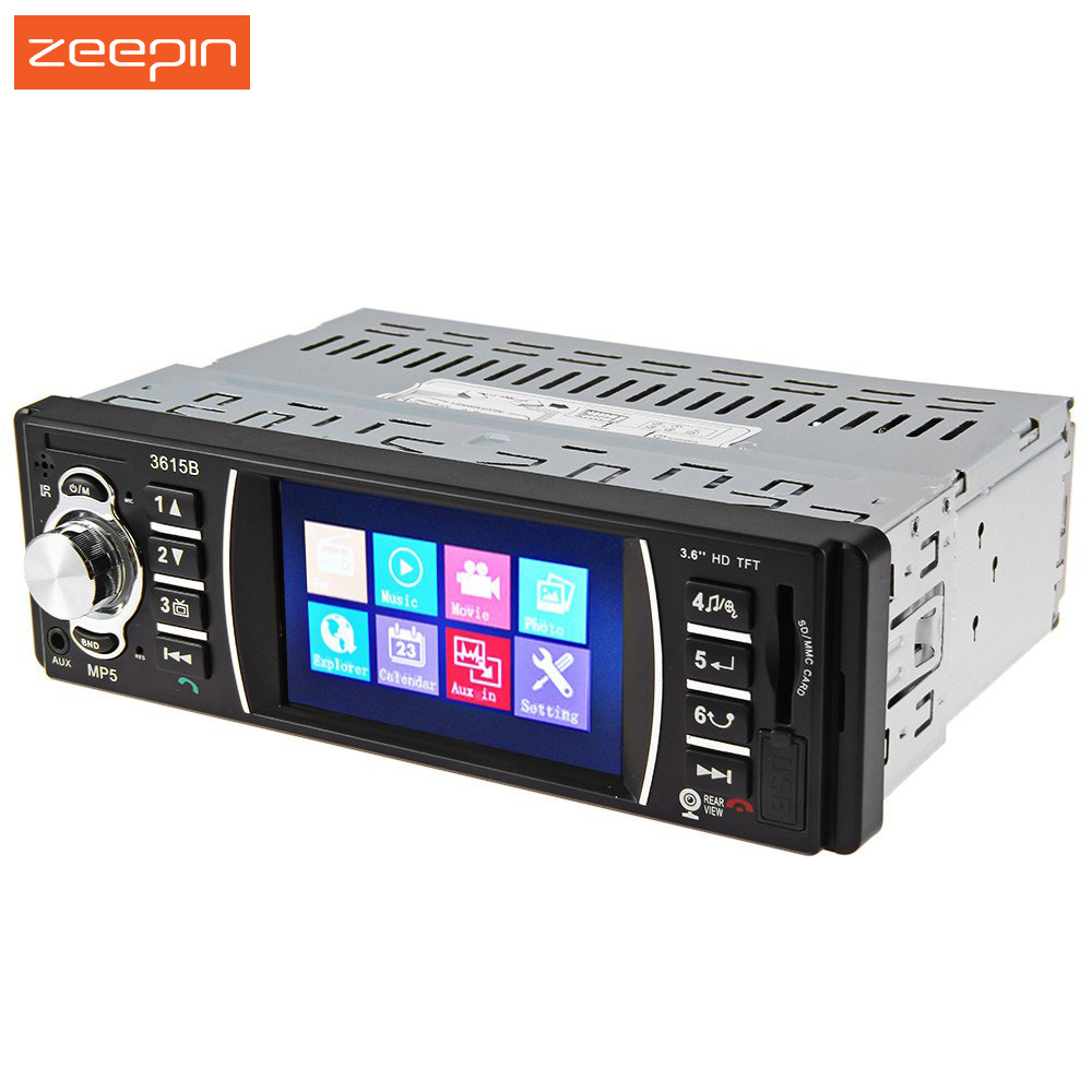 3.6 TFT Screen 12V Bluetooth V2.0 Car Radio Audio Stereo support Rear View Camera MP5 USB SD AUX In Player with Remote Control
