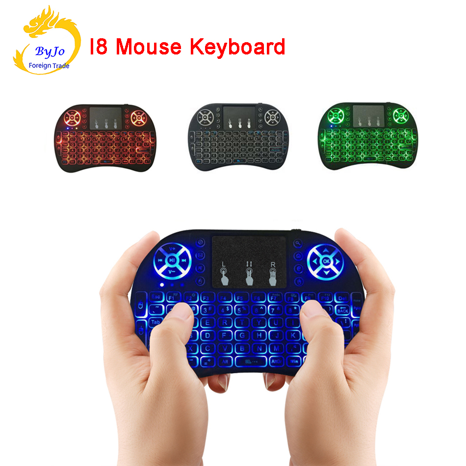 лучшая цена Mini Wireless Keyboard i8 2.4GHz Air Mouse Keyboard Remote Control Touchpad For Android Box TV 3D Game Tablet Pc