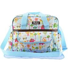 Mommy Diaper Bags Large Capacity Baby Nappy Bags Nursing Bag Cartoon Handbag Baby Care For Mom Changing Mat Storage bag все цены