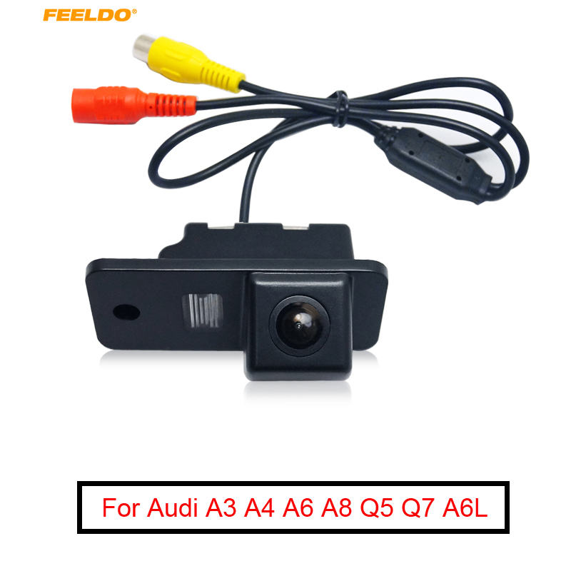 FEELDO 1Set Car Rear View <font><b>Camera</b></font> Parking <font><b>Camera</b></font> For <font><b>Audi</b></font> A6L A3 A4 <font><b>A6</b></font> A8 Q5 Q7 Backup <font><b>Camera</b></font> #FD-1067 image