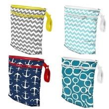 30*39 cm Double Zipper Waterproof Wet Bag for Mom Mummy Stroller Organizer Bag Pocket