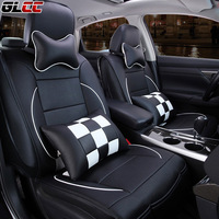 Luxury Pu leather PU leather car full surrounded seat covers set universal fit 5seats car seat protector seat covers 4colors