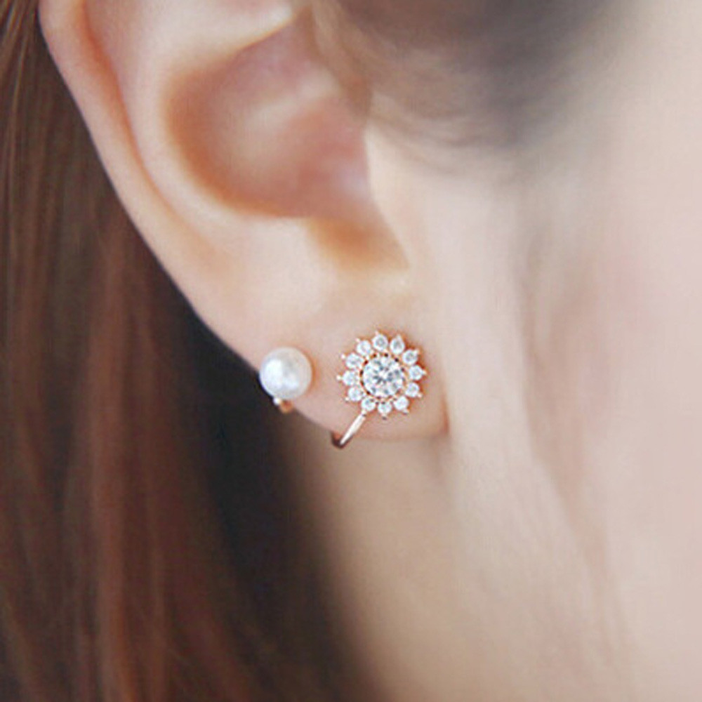 Flawless Women Fashion Jewelries Earrings Sweet Snowflake Snow Flower Earrings Oorbellen Faux Pearl Earring Jewelry Bijoux Available In Various Designs And Specifications For Your Selection