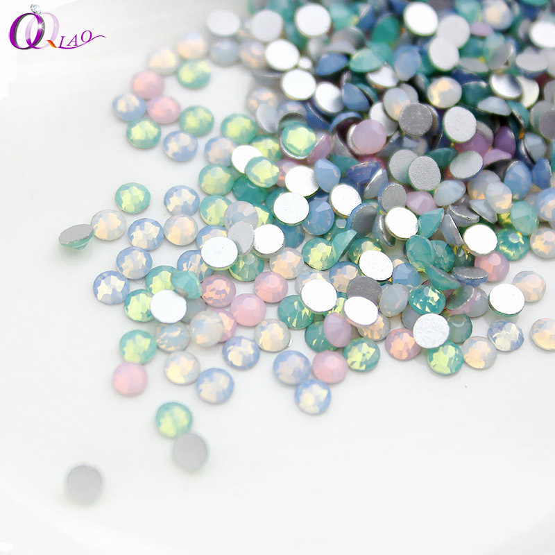 New Mix Color Opal SS3 SS12 Flat Back Non Hotfix Rhinestone Glass Crystal Nail Decorations Classic