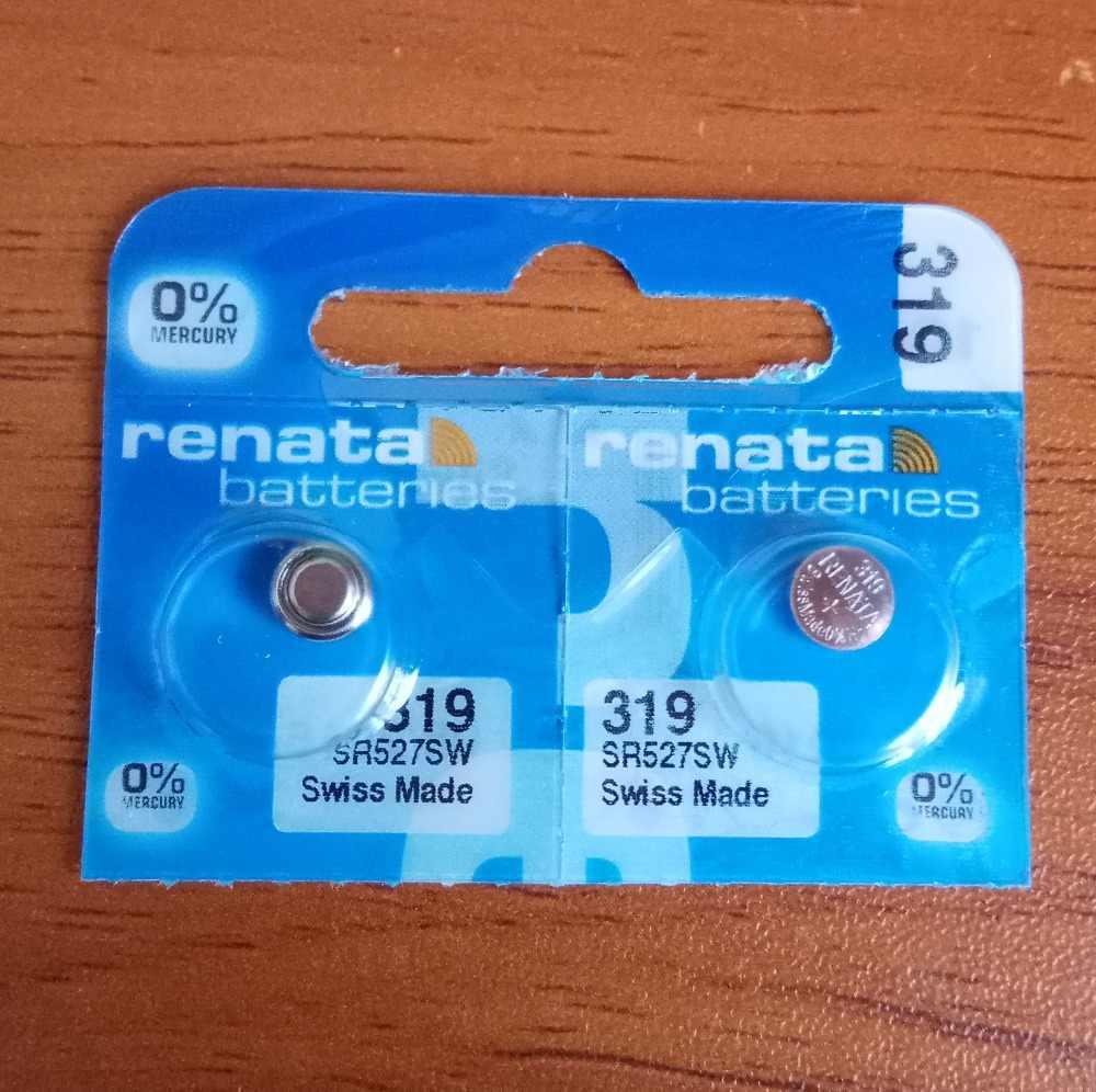 2X 小売ブランド新レナータ長続き 319 SR527SW SR527 V319 時計電池ボタンコイン電池スイス製 100% オリジナル