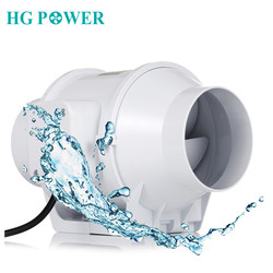 Extractor de aire en línea silencioso de 4 '', potenciador del soplador del motor, ventilador de 220V, extractor de aire para el baño y el hogar, ventiladores de escape