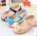 Crianças meninas bonito bowknot crianças sapatos de couro sapatos para meninas