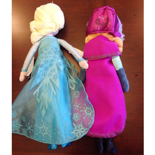 50cm Toys For Girls Princess Anna and Elsa Doll Pelucia Boneca 50cm Plush Toys Princesa Juguetes New 2017