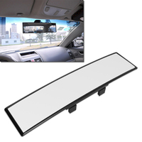 Universal 30cm Wide Convex Curve Interior Clip On Panoramic Rear View Mirror Car Styling