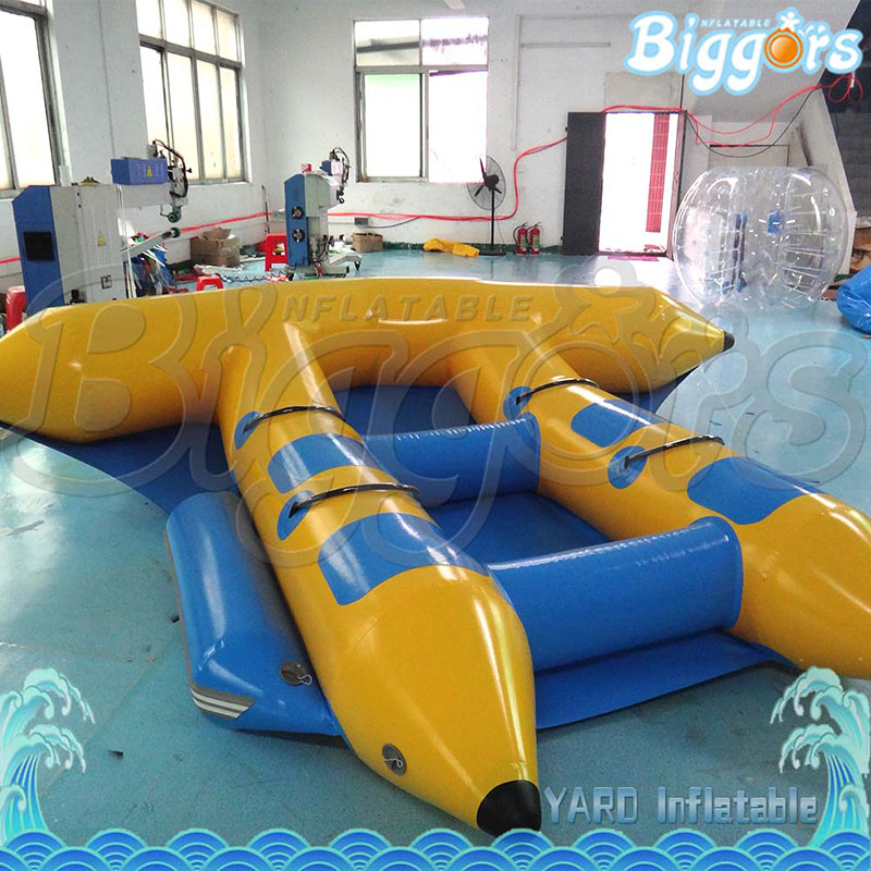 Outdoor Inflatable Flying Fish Tube Inflatable Towable Boat Inflatable Banana Boat Inflatable Banana Boat Flyfish flying banana boat wave surfing flying mantaray inflatable boat inflatable flying toward water sport toy