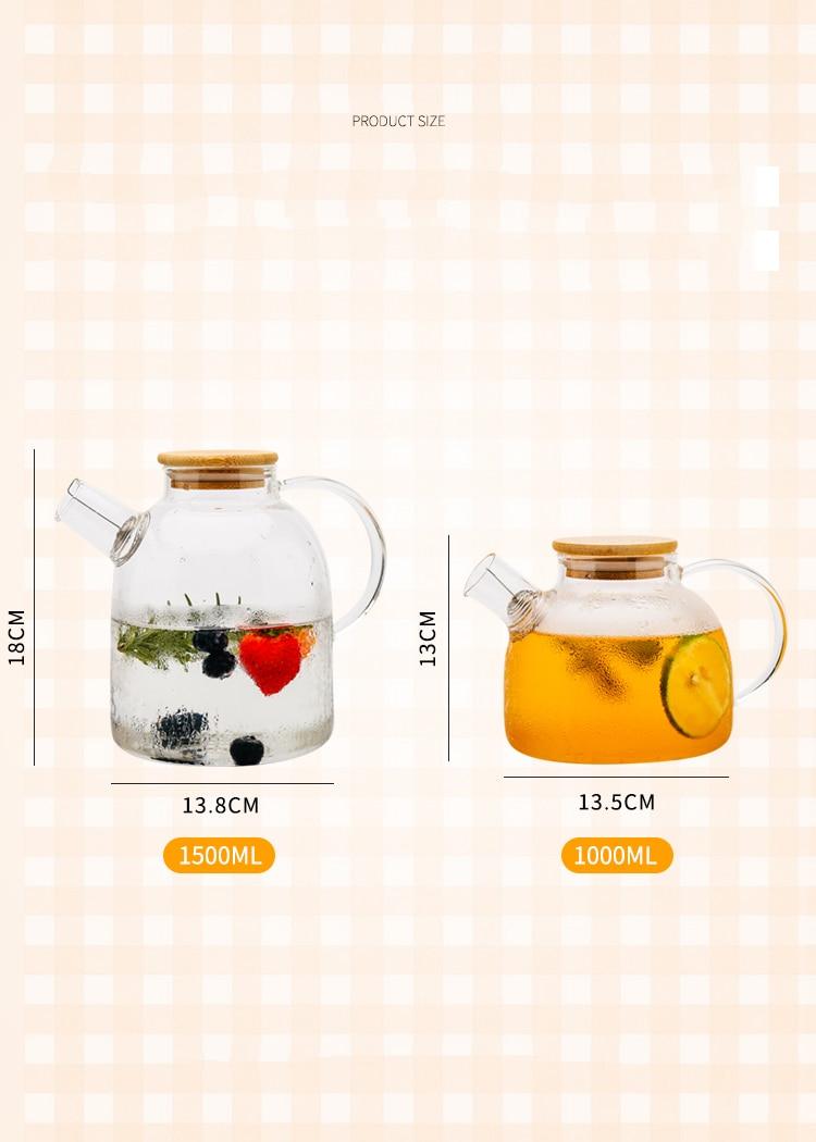 Théière en verre resistant à la chaleur pas cher  | oko oko