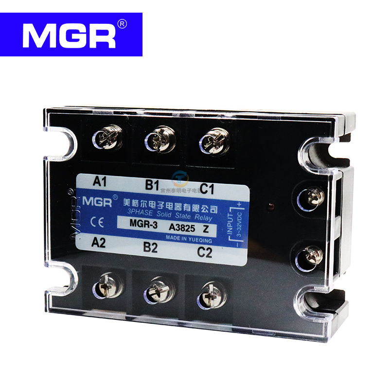 MGR Three-phase solid state relay AC control AC 380V 25A MGR-3 A3825Z beroun hs650 10kw three phase 380v single phase 220v power remote control thermostat temperature control switch