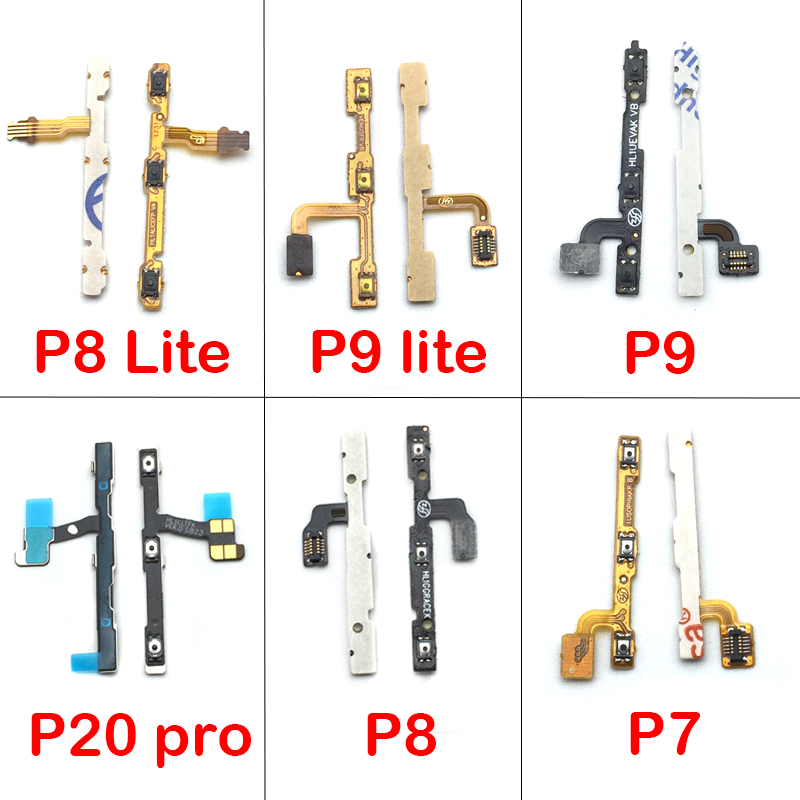 For Huawei P20 Pro / P7 / P8 / P9 Lite / P8 Lite Power Volume Button Key Flex Cable Replacement Part