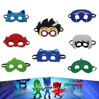 8Pcs Set Pj Cartoon Birthday Party Mask Characters Catboy Owlette Gekko Cloak Action Figure Toys Boy