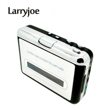 Larryjoe New USB cassette capture Player,Tape to PC, Super Portable USB Cassette to MP3 Converter Capture with Retail Package