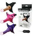 """Free shipping silicone Strap On dildo vibrating Dildo 10 Mode Vibrations 6.3"""" Harness - Rabbit Dong"""