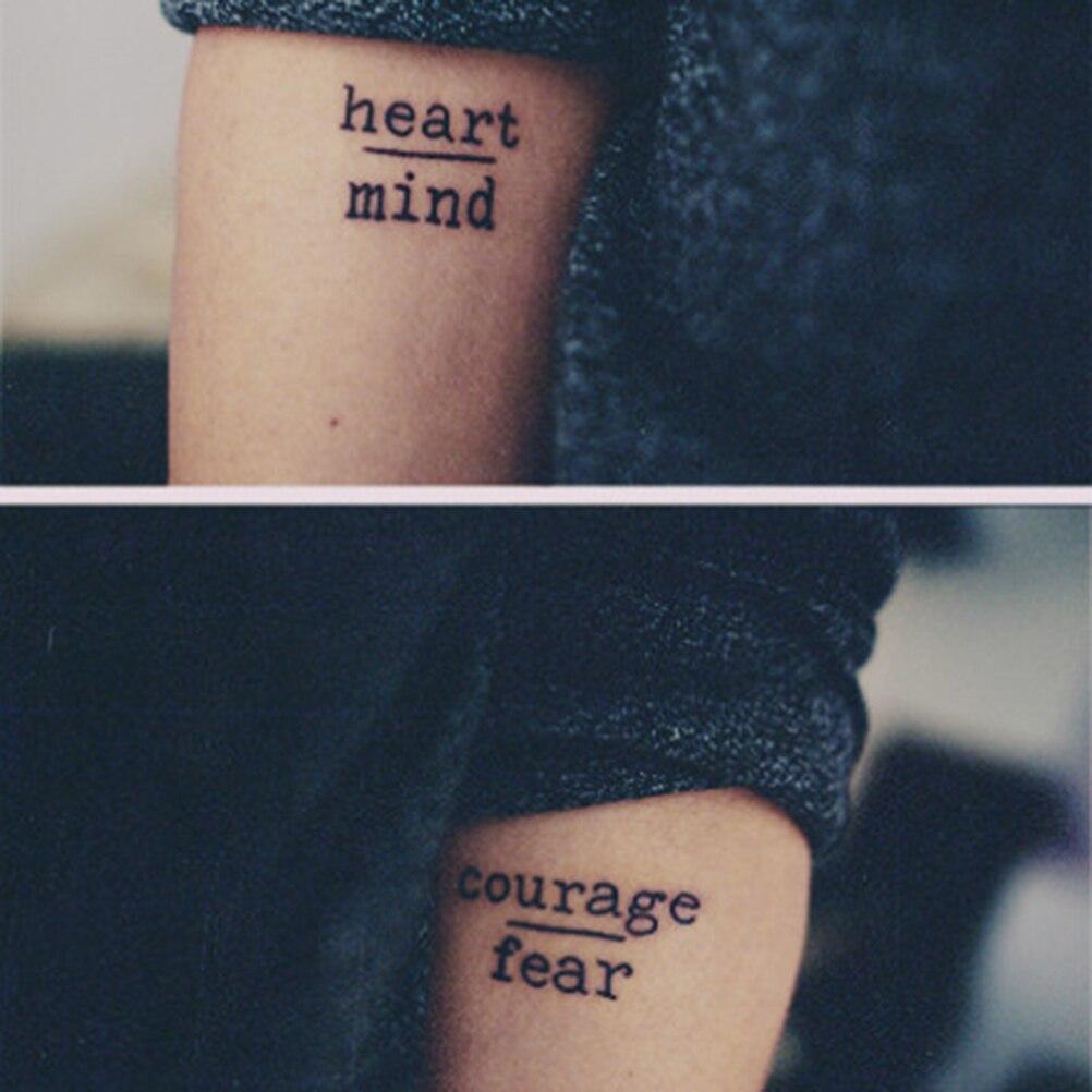 4692 руб 16 скидкаподдельные татуировки 1 шт мода сердце ум смелость страшные