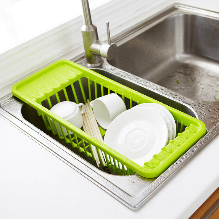 Fheal multifunction kitchen sink drain rack plastic dish cutlery kitchen sink drain rack cutlery shelving treatment of fruits and vegetables new compact dish rack set workwithnaturefo